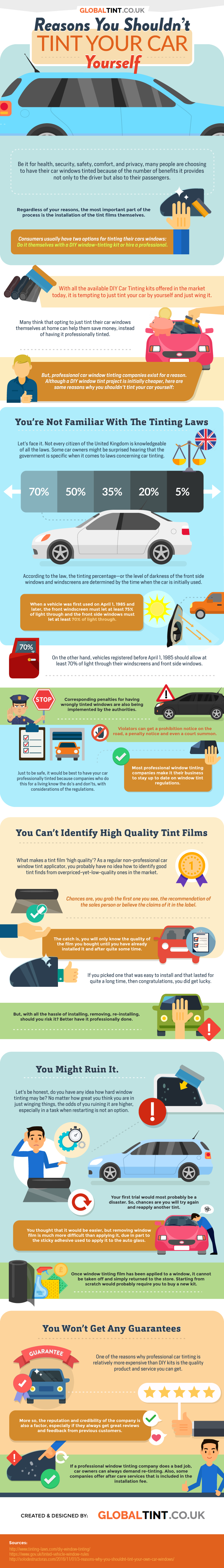 Reasons You Shouldn T Tint Your Car Yourself Infographic