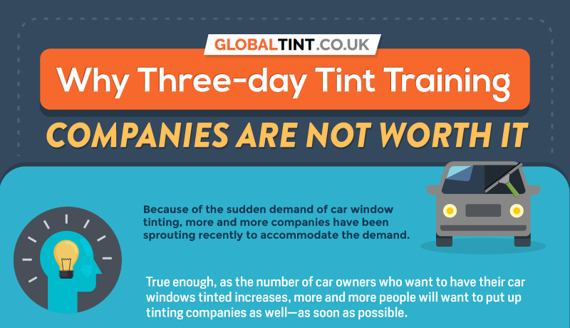 Why Three-day tint training companies are not worth it