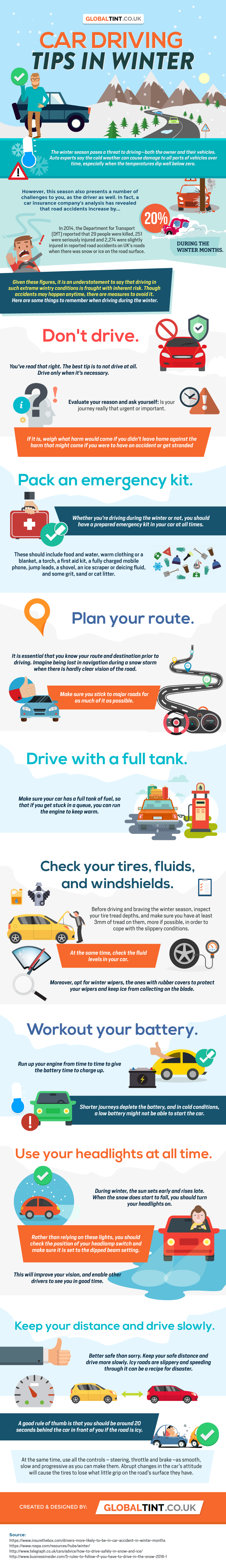 Car Driving Tips in Winter